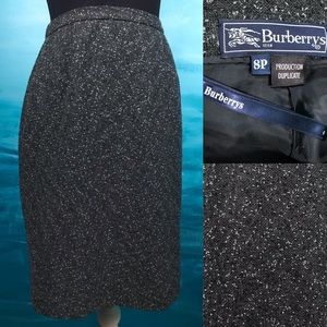 Burberry vintage speckled tweed pencil skirt